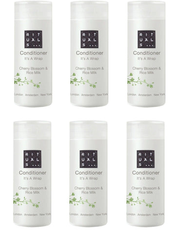 Rituals Its a Wrap Cherry Blossom & Rice Milk Conditioner. Lot of 40 Total 34oz