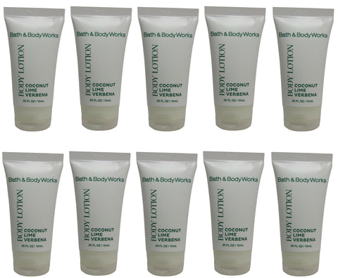 Bath & Body Works Coconut Lime Verbena Lotion lot of 10 Bottles. Total of 5.5oz