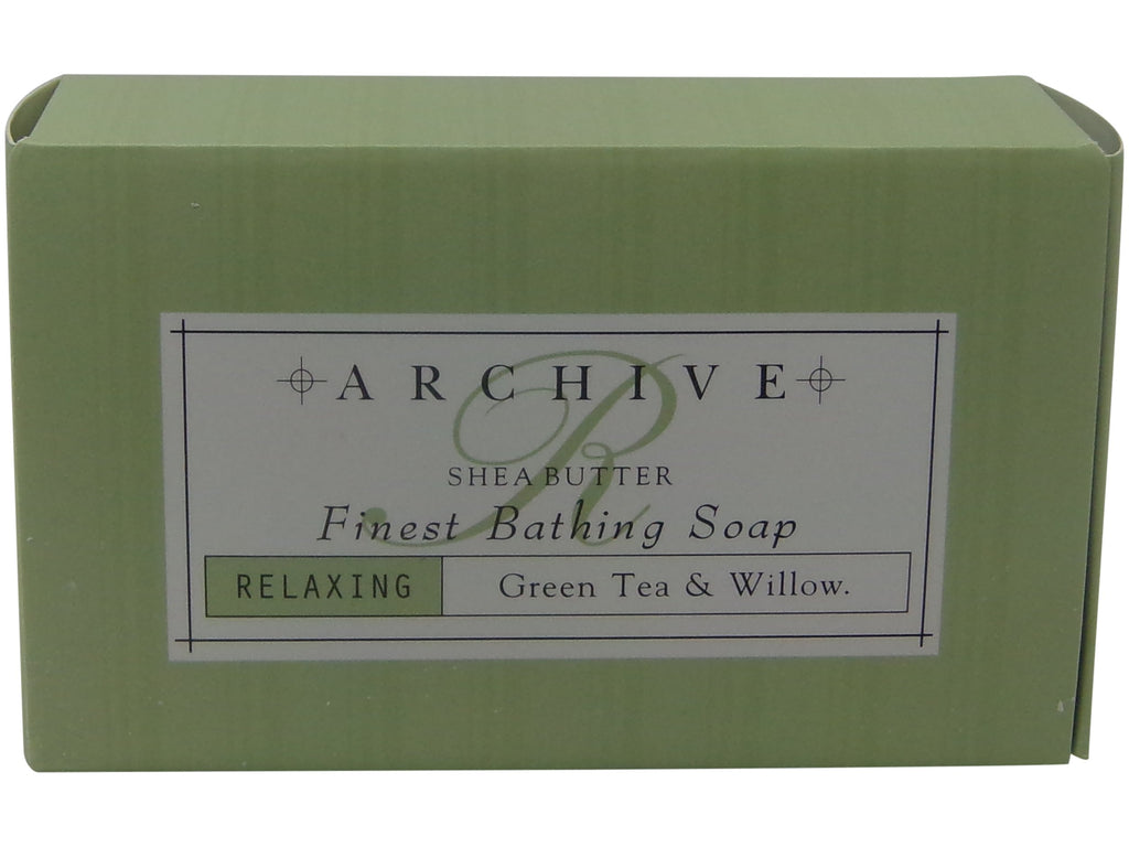 Archive Green Tea & Willow Relaxing Bath Soap lot of 12 Each 2.25oz bars with Shea Butter. Total of