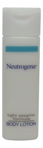 Neutrogena Light Sesame Formula Body Lotion lot of 10 ea 0.8oz Bottles Total 8oz