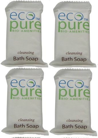 Eco Pure cleansing Bath Soap Lot of 4 each 1oz Bars. Total of 4oz