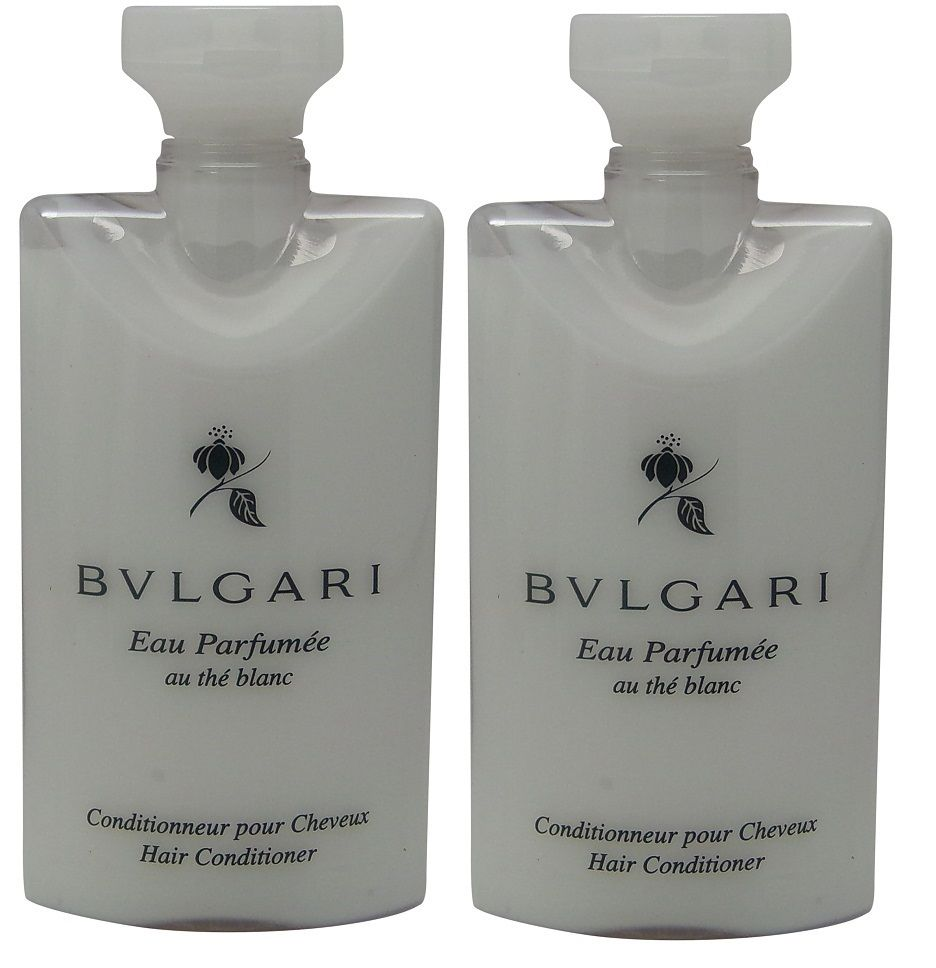 Bvlgari White Tea au the blanc Conditioner lot of 2 each 2.5oz Total of 5oz