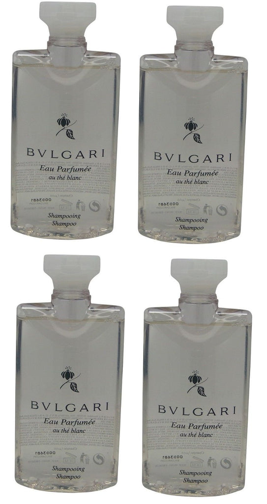 Bvlgari White Tea au the blanc Shampoo lot of 4 each 2.5oz Total of 10oz