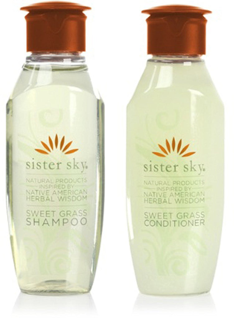 Sister Sky Sweet Grass Shampoo & Conditioner lot of 14 each (7 of each)1oz bo...