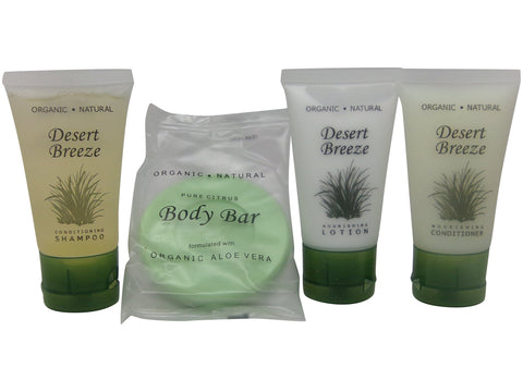 Desert Breeze Travel Set 2 Lotion, 2 Soap, 2 Conditioner and 2 Shampoo