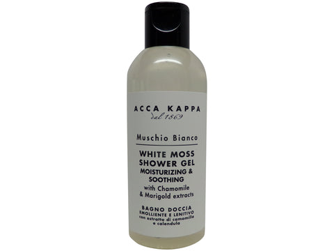 Acca Kappa White Moss Shower Gel 75 ml Travel Bottles - Set of 4