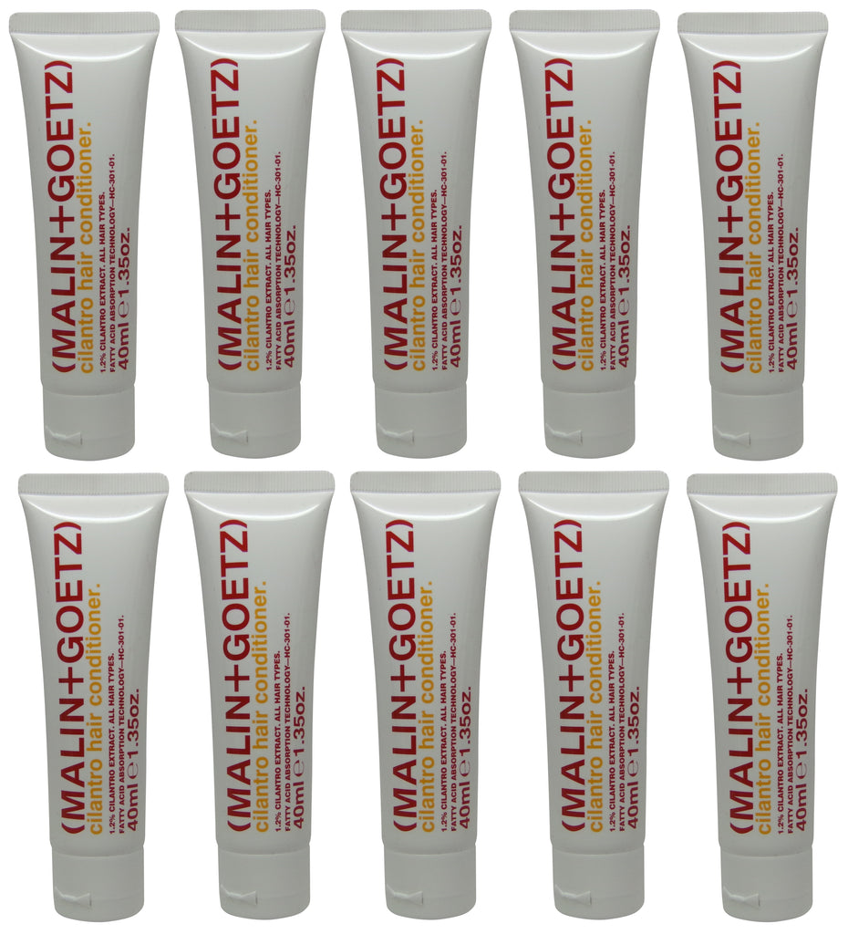 Malin + Goetz Cilantro Hair Conditioner lot of 10 tubes each 1.35oz Total of 13.5oz