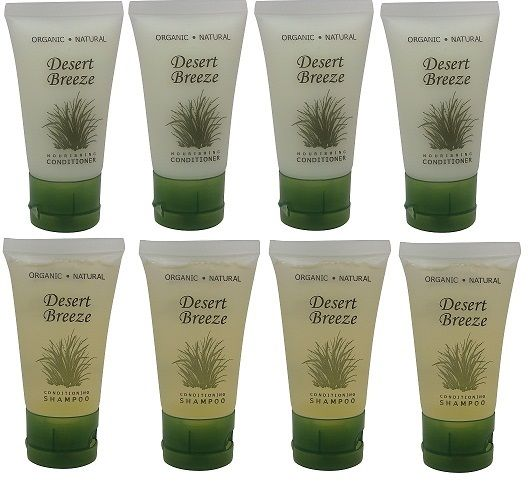 Desert Breeze Conditioner and Shampoo Lot of 8 (4 of each) 1oz Bottles