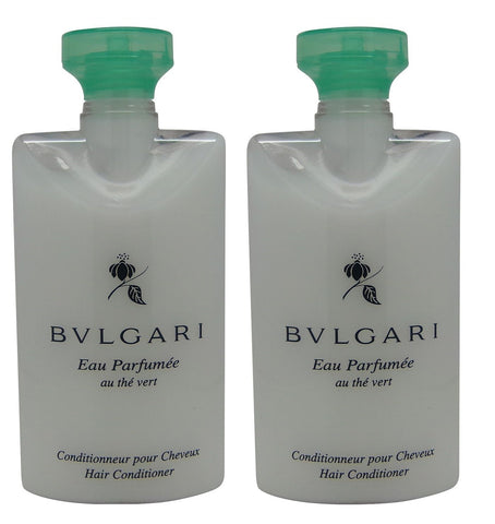 Bvlgari au the vert Green Tea Conditioner lot of 2 each 2.5oz Total of 5oz