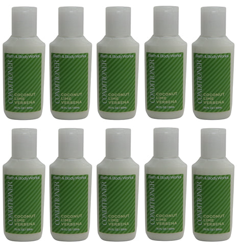Bath & Body Works Coconut Lime Verbena Conditioner Lot of 10. Total of 7.5oz