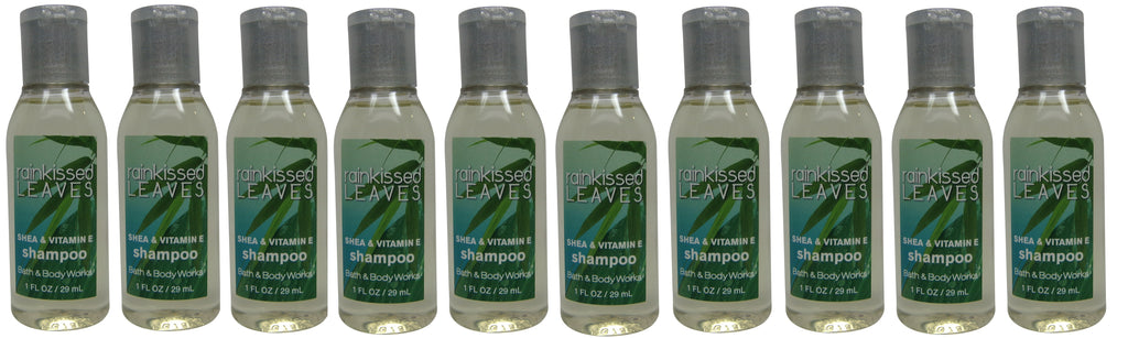 Bath & Body Works Rainkissed Leaves Shampoo lot of 10 each 1oz bottles 10ozTotal