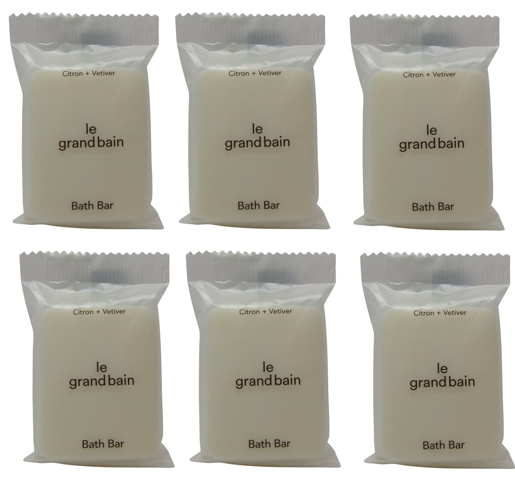 Le Grand Bain Citron & Veviter Soap lot of 6 each 1oz bars. Total of 6oz