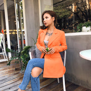 Blazer Dress Orange