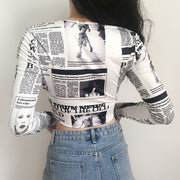 Journal Crop Shirt