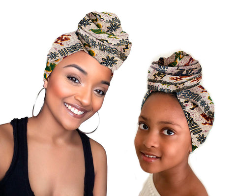 Zara Stretched Mother Daughter Stretched Fabric Head wrap