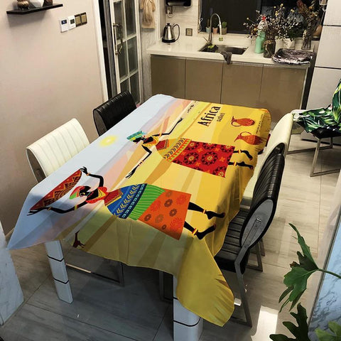 African Woman Table Cloth
