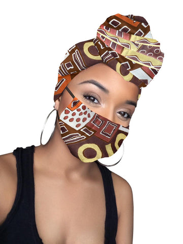 Tori Satin Lined Headwrap and Mask