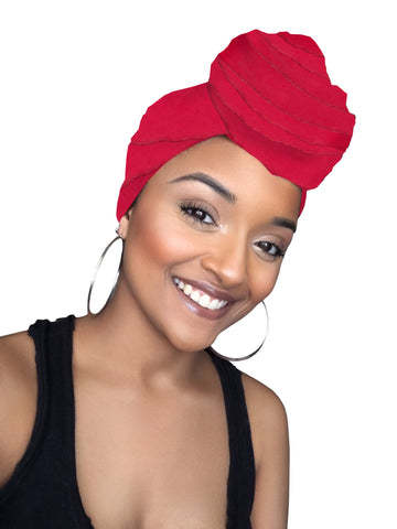 Red Sparrow Satin Lined Head Wrap