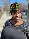 Reggae Slip On satin lined headwrap (No Mask)