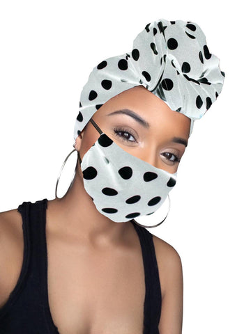Sia Satin Lined Headwrap and Mask