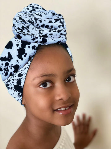Kya Kid Stretched Satin Lined Headwrap