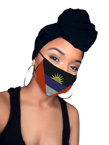 Antigua Face Mask and Headwrap Combo