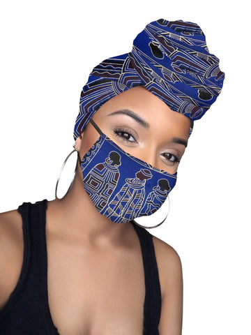 Kacely Headwrap & mask - African Pride Collection