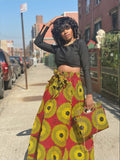 Aday Print Maxi Skirt and Headwrap