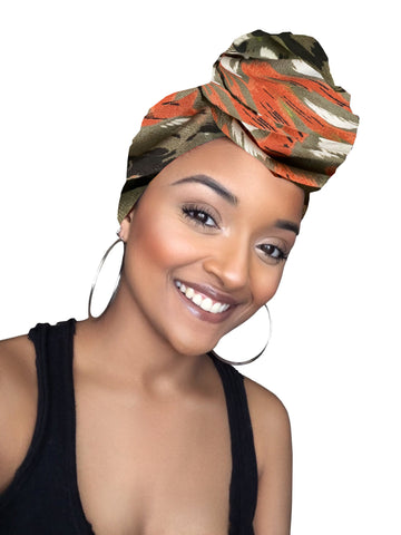 Army stretched fabric headwrap and mask