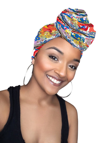 Flowers Stretched Fabric Head wrap (15 sale item)