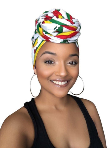 White Majesty Satin Lined Headwrap