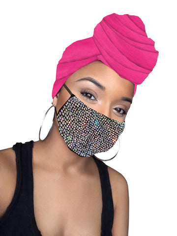 Pink Diamond Headwrap & mask