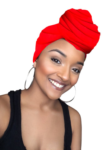 Burnt Orange Satin Lined Head wrap