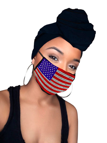 America  Face Mask and Headwraps