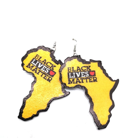 Black lives Matter earring (Yellow)
