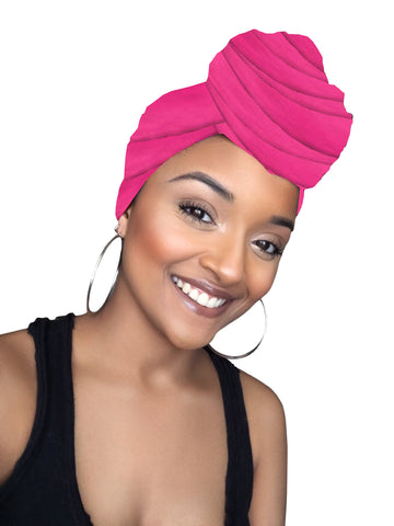 Pink Daiquiri Stretched Fabric Head wrap & mask
