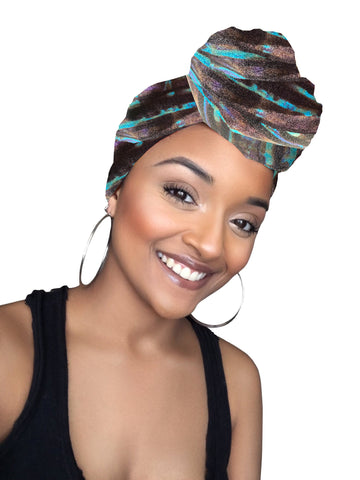 Guava Lava Stretched Fabric Head wrap