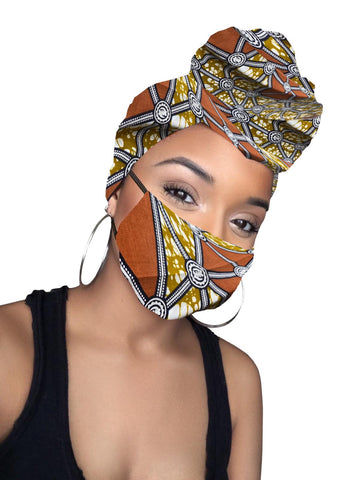 Lysha Satin Lined Headwrap and Mask