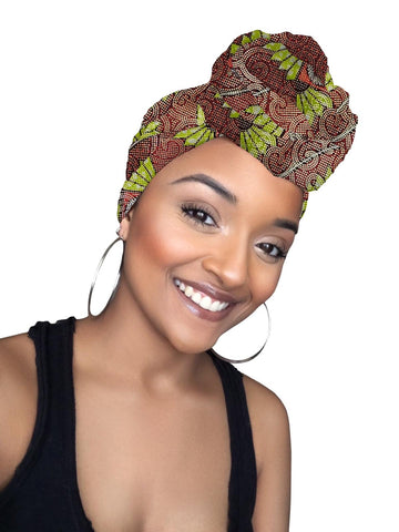 Naya Limited Edition Holiday Gold Print African Head wrap