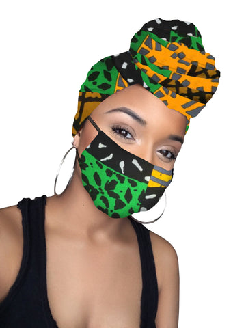 Kelechi Headwrap and Face Mask combo