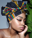 Sheer Royalty Slip On satin lined headwrap and Mask