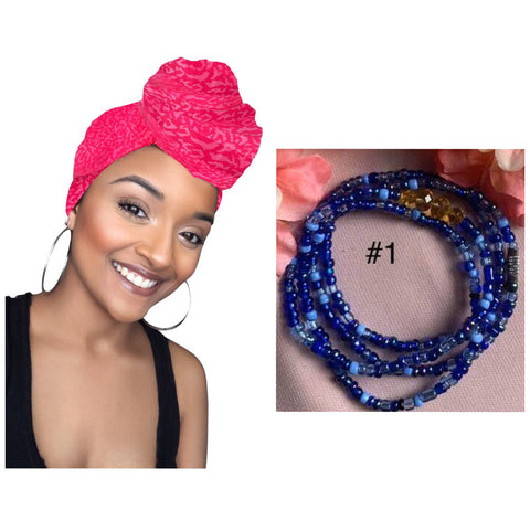 ORANGEAID Headwrap and waist bead set