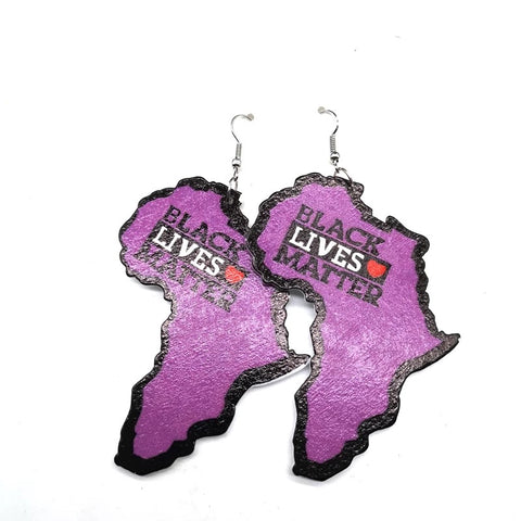 Black lives Matter earring (Purple )