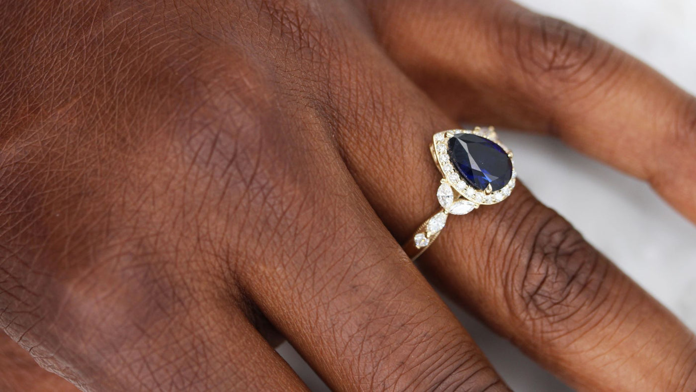 Engagement Rings with Created Gemstones
