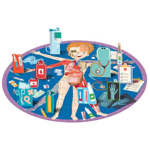 Sassi Travel, Learn and Explore Book and Puzzle Set - All About The Human Body.