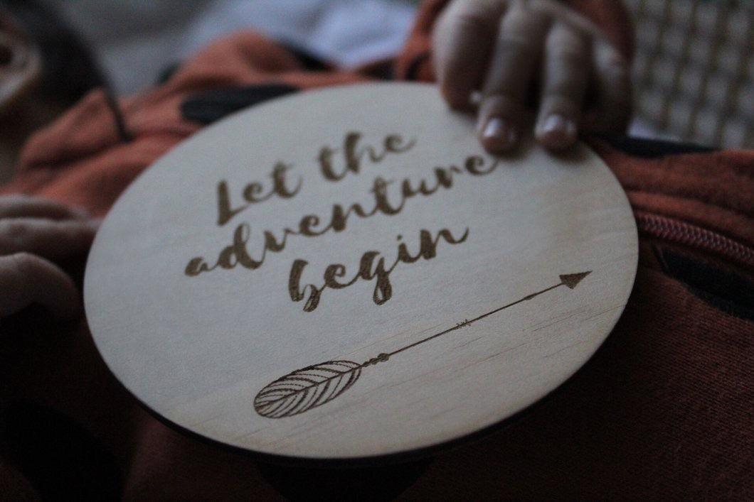 Adventure raw wooden disc