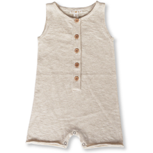 Load image into Gallery viewer, Slub linen play suit - oat