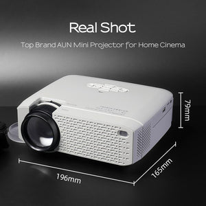 LED Mini LED Projector Video Beamer for Home Cinema, Wireless Mirror Screen For IOS/Android Phone