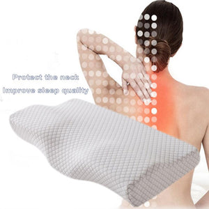 Memory Foam Bedding Pillow Neck Protection Slow Rebound Memory Foam Butterfly Shaped Pillow Health Cervical Neck Size in 5030CM