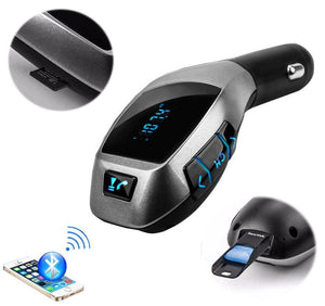 Bluetooth Car Kit Wireless FM Transmitter Radio Audio Adapter FM Modulator Handsfree USB Music MP3 Player For iPhone X